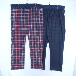Nautica Sleepwear Pants Fleece Pajama XL Lot of 2